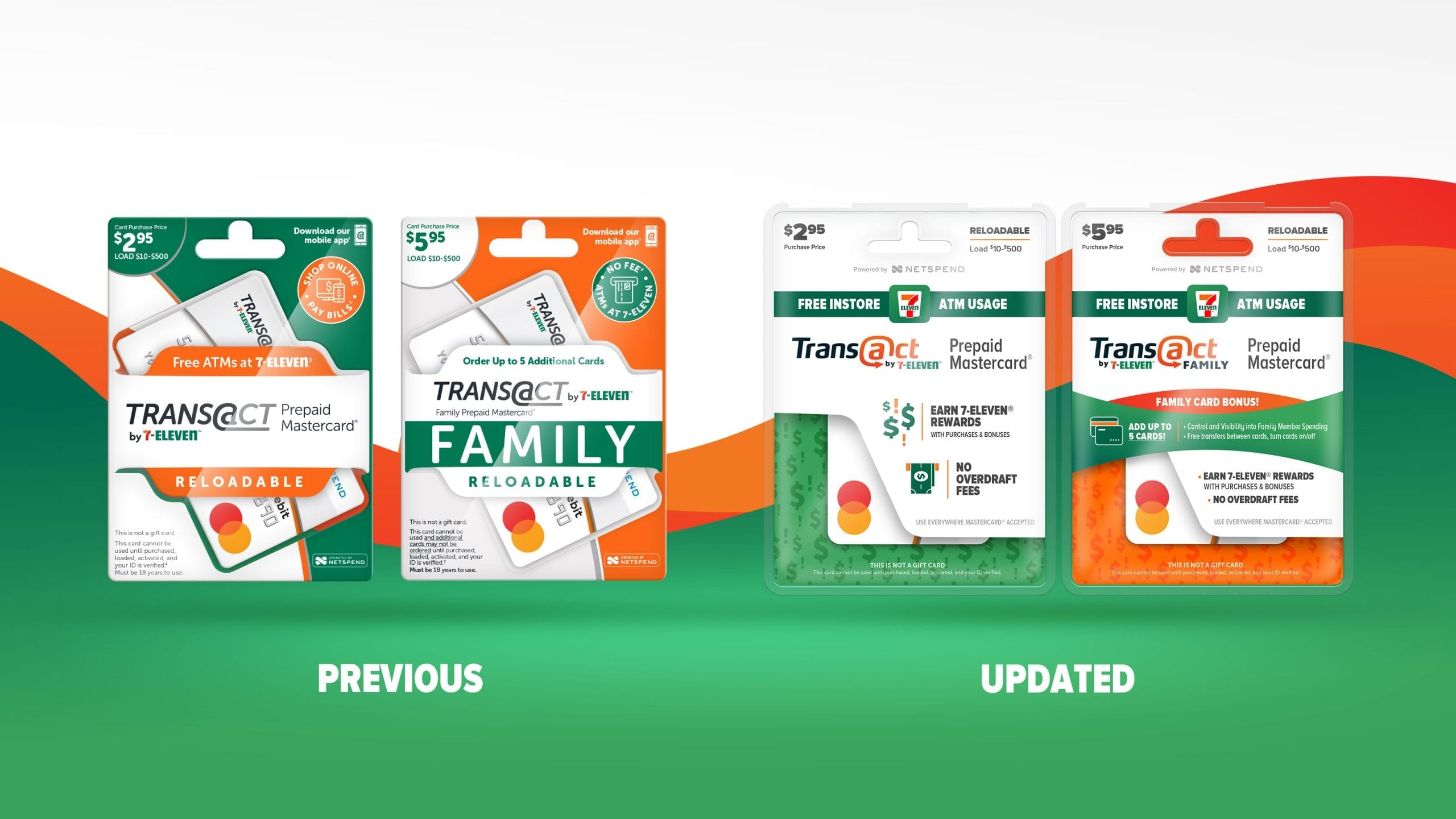 7-11 transact before after package design