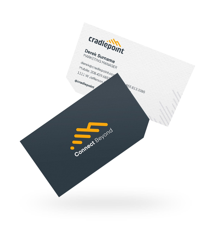cradlepoint business card designer