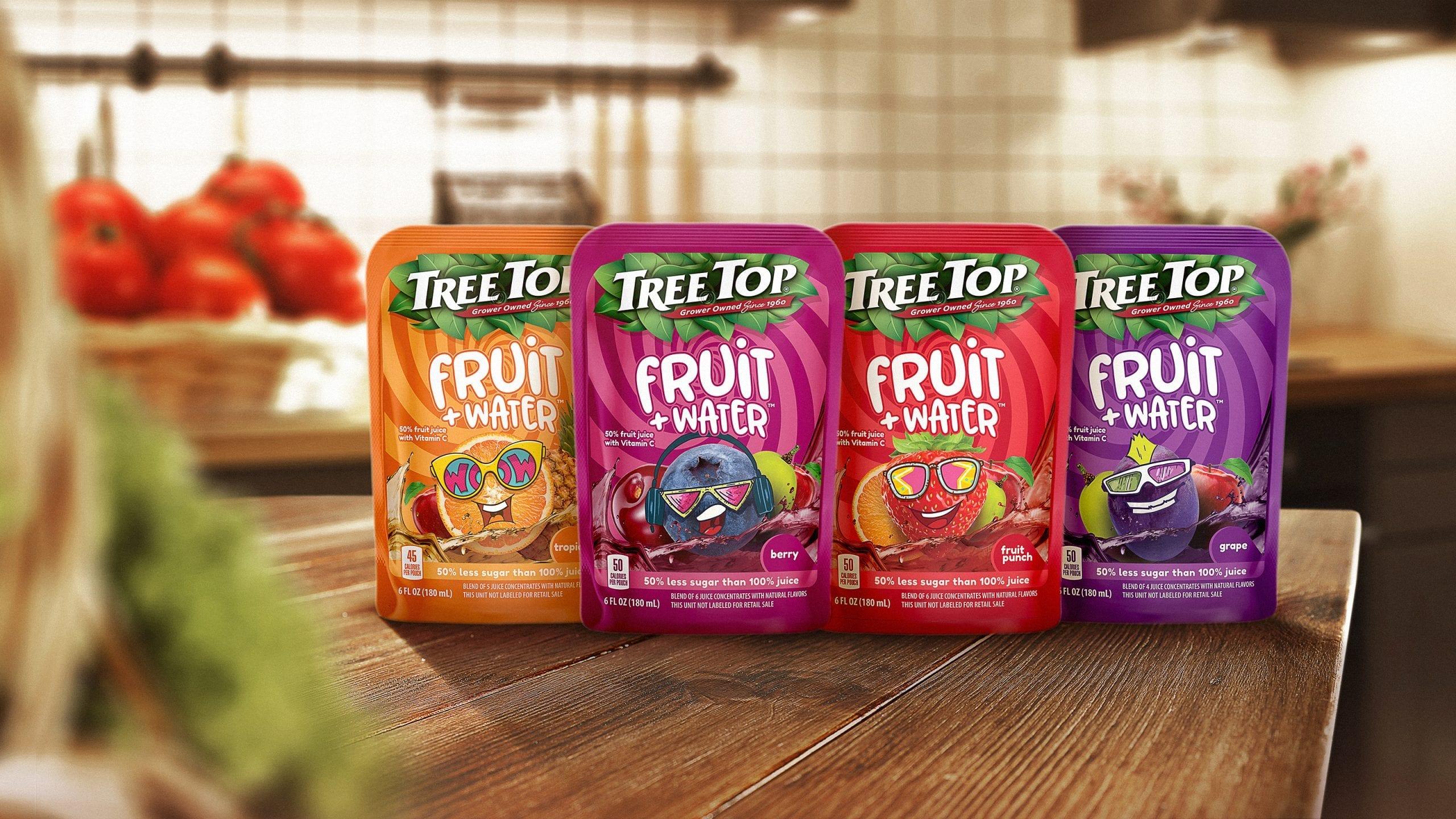 treetop fruit water branding