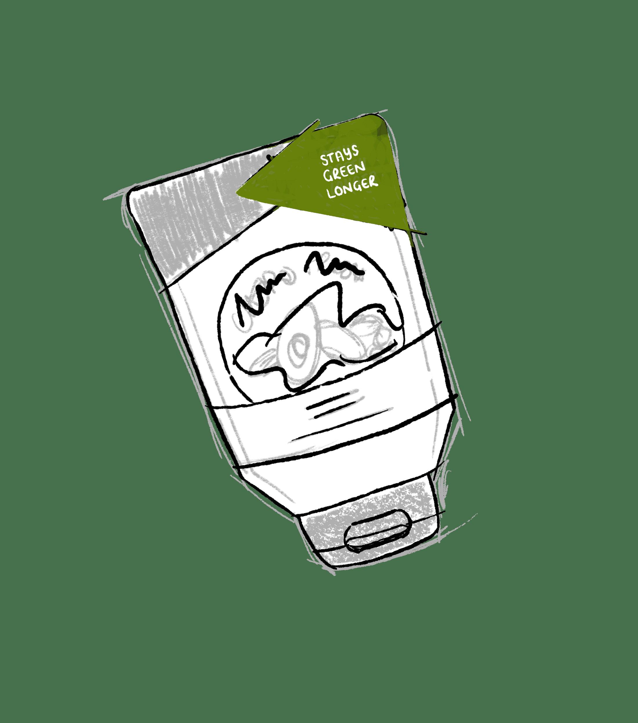 stays green longer packaging desgin